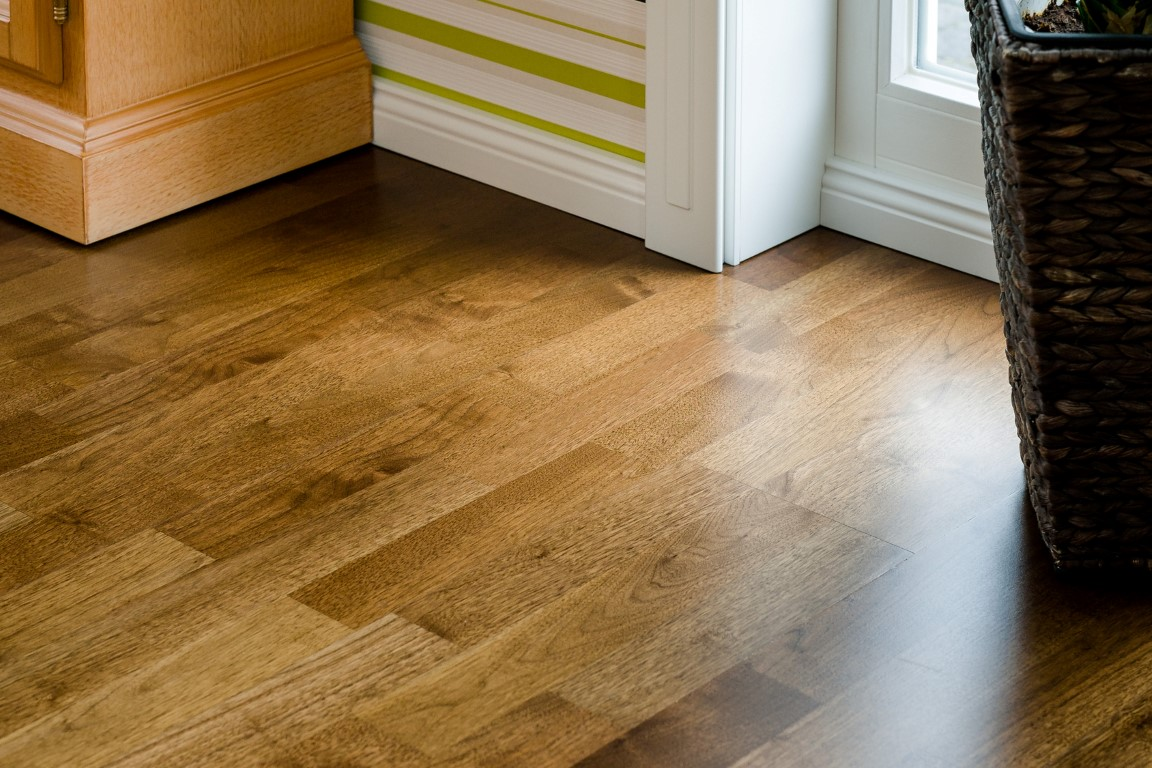Wood flooring house