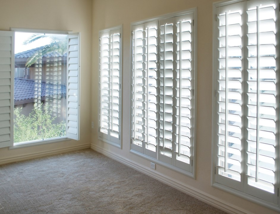 White style wood Shutters for luxury Interior Design