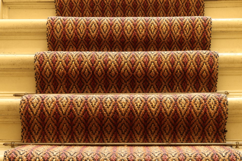 Rug on stairs with runners