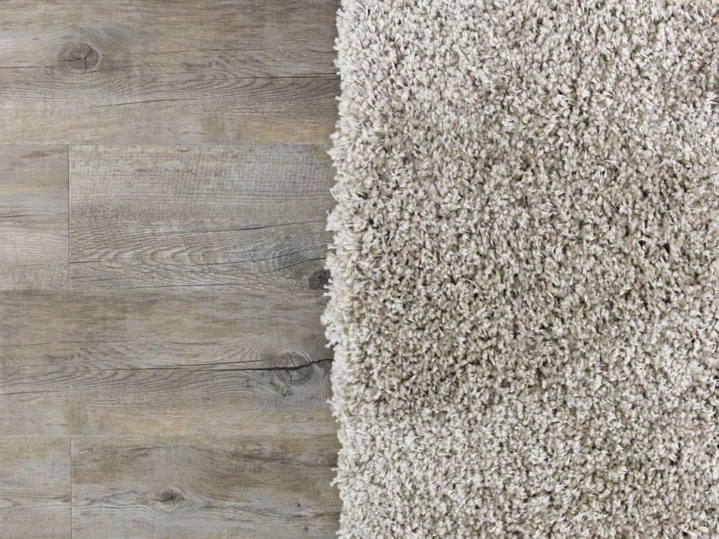 rug on a wooden floor