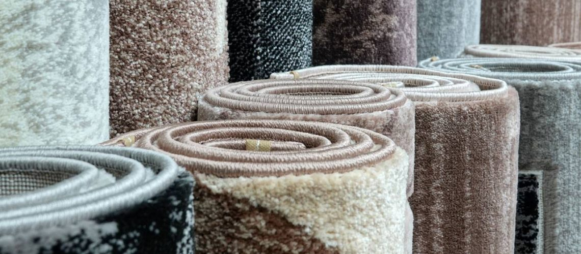 Rugs rolled up and stored away